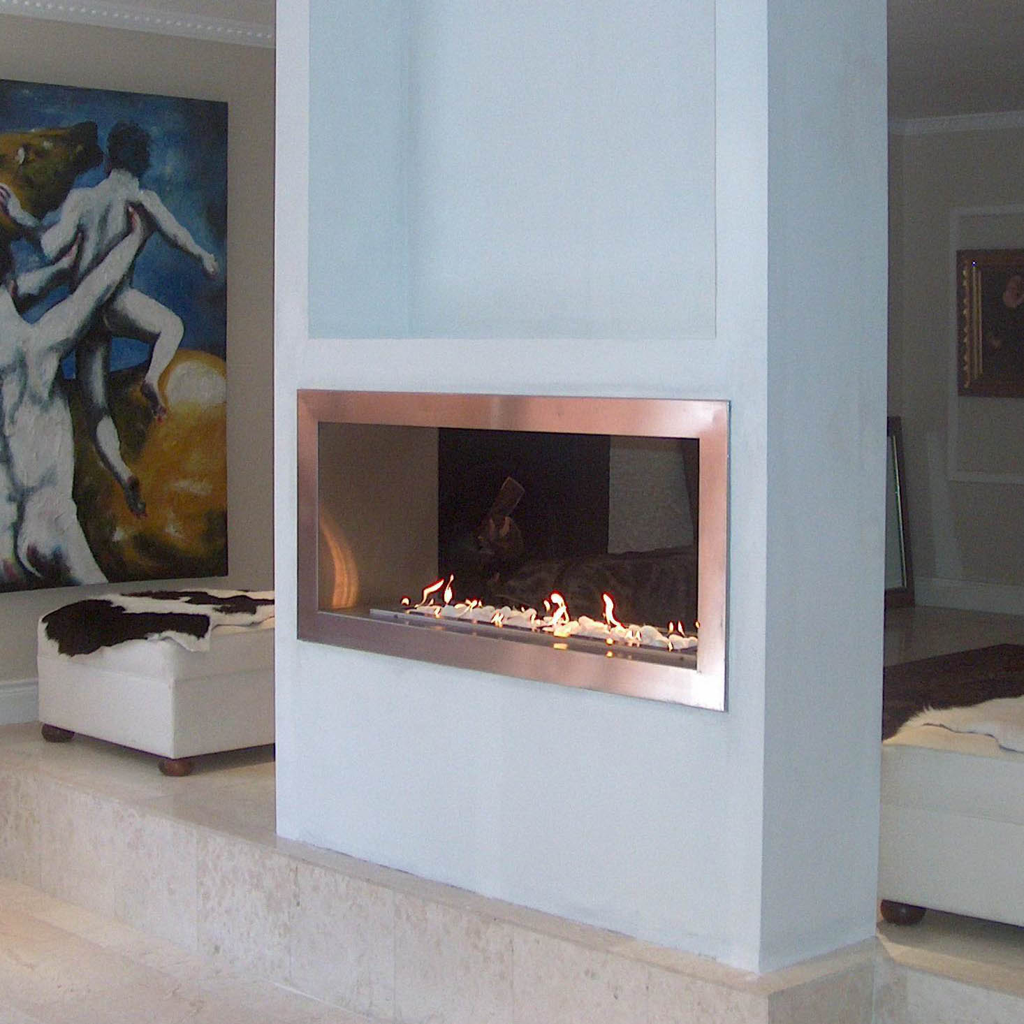 Flueless gas fireplaces product categories the braaiman for Modern gas fireplace price